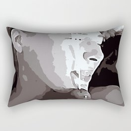 NSFW! Adult content! Cartoon sex play, cummy face, happy face poster style Rectangular Pillow