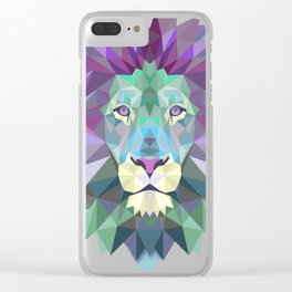 lion wild Clear iPhone Case