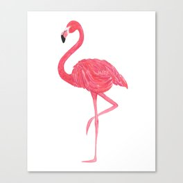 Flamingo fuchsia flap Canvas Print