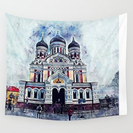 Alexander Nevsky Cathedral Tallinn Wall Tapestry