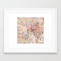 dallas Framed Art Prints featuring Dallas by MapMapMaps.Watercolors