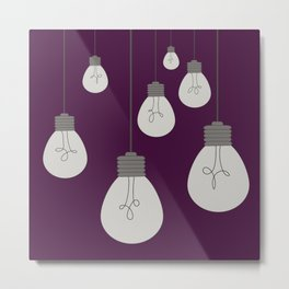 Hanging Light Bulbs Metal Print