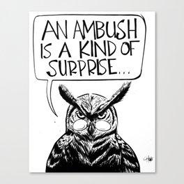 Said Owl Canvas Print
