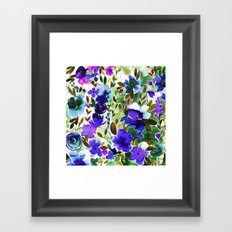 Evie Floral Olive Framed Art Print