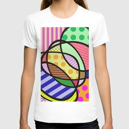 Retro Curves - Big Bold Geometric Patterns T-shirt