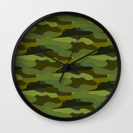 Khaki camouflage Wall Clock