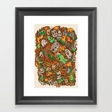 Wasted Days Framed Art Print