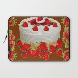 CHOCOLATE STRAWBERRIES PARTY CAKE Laptop Sleeve