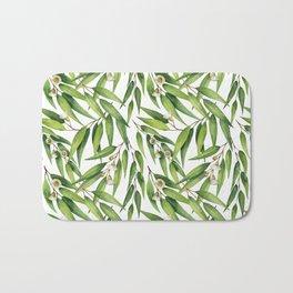 Exotic greenery pattern Bath Mat