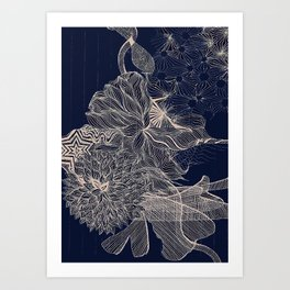 ..you will connect the dots eventually. Art Print