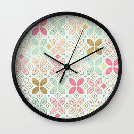 MORROCCAN TILE - ALEXA SPRING MINT Wall Clock