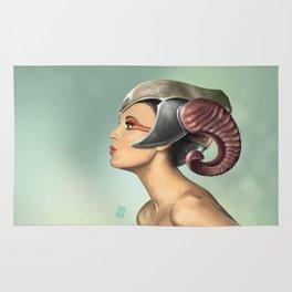 Horned helmet Rug