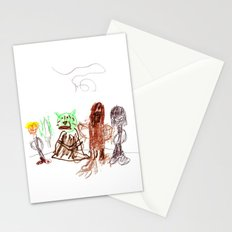 Space Opera in Crayon Stationery Cards