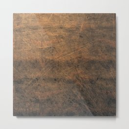 Scratched Suede Tobacco Metal Print