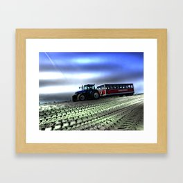 Sandormen at Grenen in Skagen, Denmark Framed Art Print