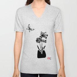 Still Life with Flowers Unisex V-Neck