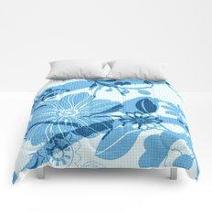 Bird in blue Comforters
