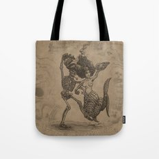 Dancing Mermaid and Skeleton Tote Bag