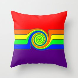 Rainbow With A Headache Throw Pillow