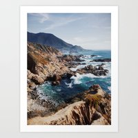 big sur Art Prints featuring Big Sur by Dan Grady