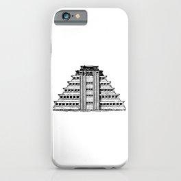 Chichén Itzá Sketch iPhone Case