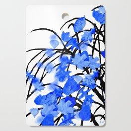 Falling Leaves Blue Cutting Board