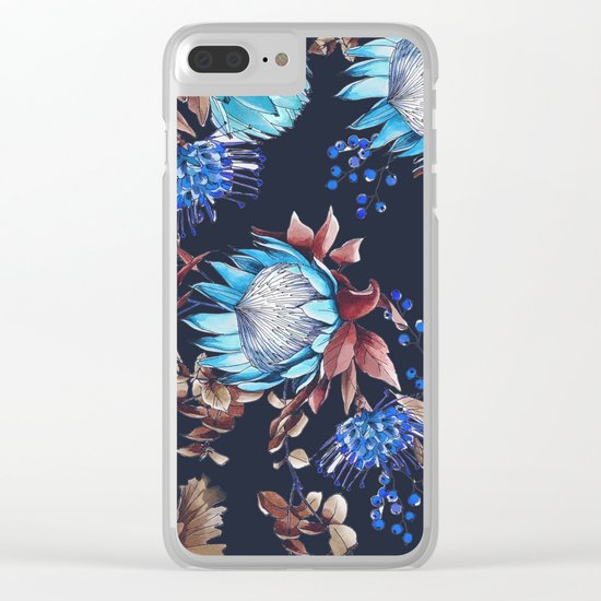 King protea flowers Clear iPhone Case
