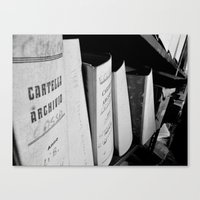records Canvas Prints featuring Records by Ashley Lynette Williams