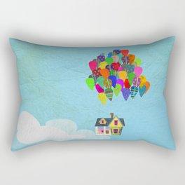 Up paper collage Rectangular Pillow
