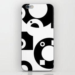 Black& White Rings Rectangle iPhone Skin