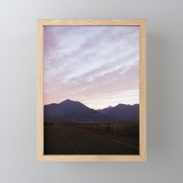 Sunset over the Bitterroot Mountains Framed Mini Art Print