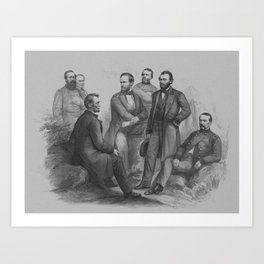 President Lincoln and His Commanders Art Print