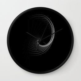 """""""Fly Collection"""" - Abstract Minimal Letter P Print Wall Clock"""