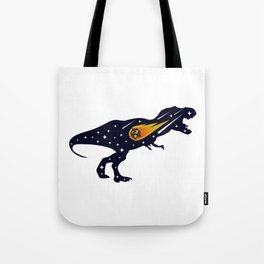 Dinosaur and meteorite strike #society6 #decor #buyart #artprint Tote Bag