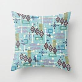 Retro Mid Century Modern Atomic Abstract Pattern 245 Throw Pillow