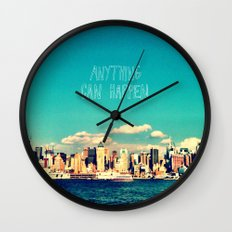 Anything Can Happen Wall Clock
