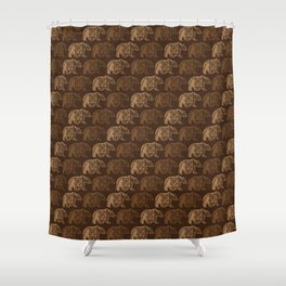 Bear Spirit Shower Curtain