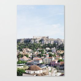 Views of the Acropolis in Athens Canvas Print