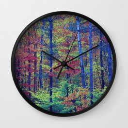 Forest - with exaggerated colors Wall Clock