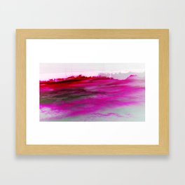 Purple Clouds Red Mountain Framed Art Print