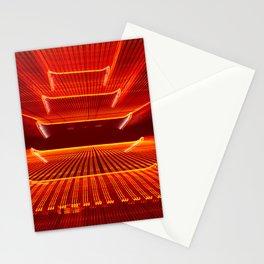 Abstract Reading Pagoda Night Photo Stationery Cards