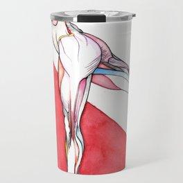 Paradigm flux, nude female dancer, NYC artist Travel Mug