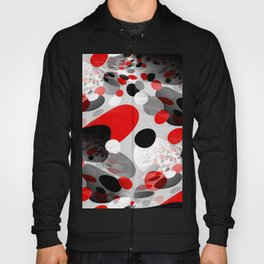 Stir Crazy - Abstract - Red, Black, Gray, White Hoody