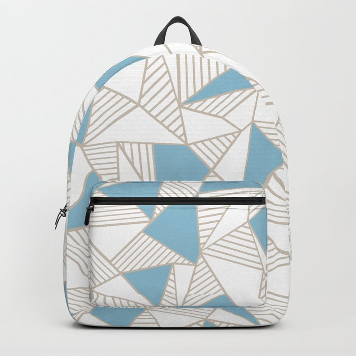 Ab Nude Lines with Blue Blocks Backpack