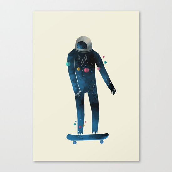 Skate/Space Canvas Print
