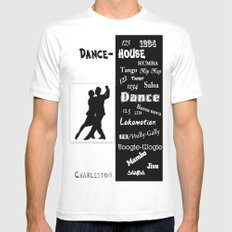 dance house White MEDIUM Mens Fitted Tee