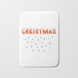 Christmas Snow and Snowballs Bath Mat