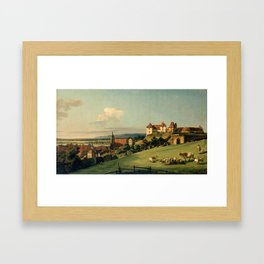 Bernardo Bellotto - View of Pirna from the Sonnenstein Castle (c.1750) Framed Art Print