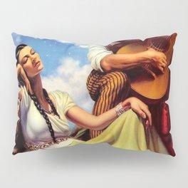 Love and Spanish Guitar under Sonoran Desert Skies by Jesus Helguera Pillow Sham