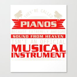 Piano Player Jazz Blues Classical Music Canvas Print